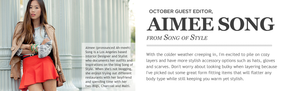 Aimee Song Song of Style Beso's October Guest Editor