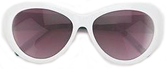 White Rimmed Retro Sunglasses
