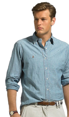 Polo Ralph Lauren Shirt, Classic Fit Denim from Macys